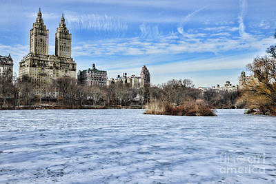 Central Park West Photograph - Central Park Lake Looking West by Paul Ward