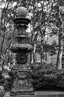Photograph - Central Park Lamp Post by Lee Dos Santos