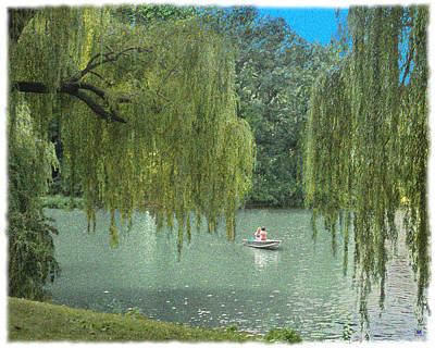 Willow Lake Digital Art - Central Park Lazy Afternoon by Muriel Levison Goodwin