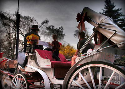 Photograph - Central Park New York - Romantic Carriage Ride 2 by Miriam Danar