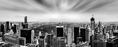 Skylines Royalty-Free and Rights-Managed Images - Central Park Perspective by Az Jackson