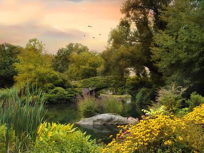 New York Digital Art - Central Park Pond by Jessica Jenney
