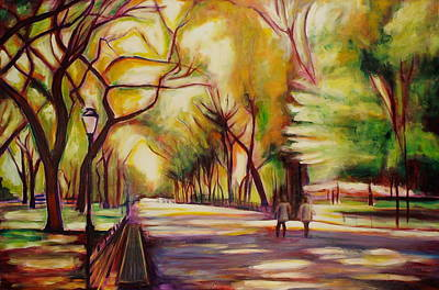 I Love Canada Painting - Central Park by Sheila Diemert
