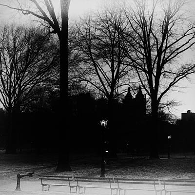 Photograph - Central Park Silhouette In Black And White by Marianne Campolongo