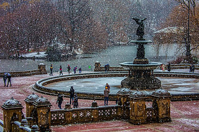 City Scenes Royalty-Free and Rights-Managed Images - Central Park Snow Storm by Chris Lord