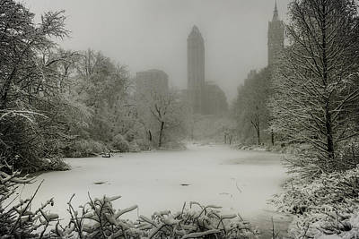 Photograph - Central Park Snowstorm by Chris Lord