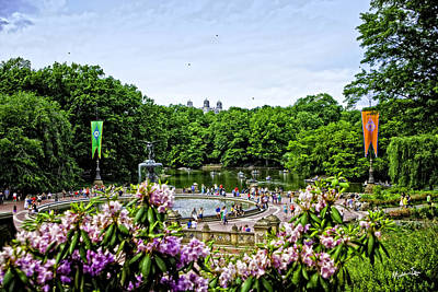 Bethesda Fountain Photograph - Central Park Spring by Madeline Ellis