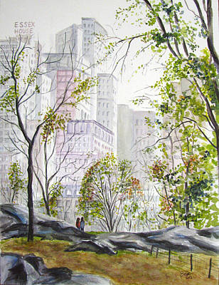 Painting - Central Park Stroll by Clara Sue Beym
