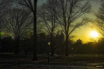 Photograph - Central Park Sunset by Marianne Campolongo