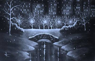 Painting - Central Park by Thomas Kolendra