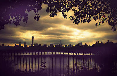 Fence Digital Art - Central Park Twilight by Jessica Jenney