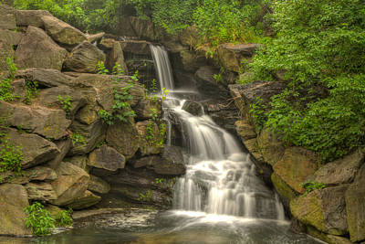 Photograph - Central Park Waterfall by Zev Steinhardt