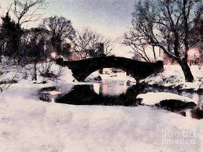 Painting - Central Park Winter by Scott B Bennett