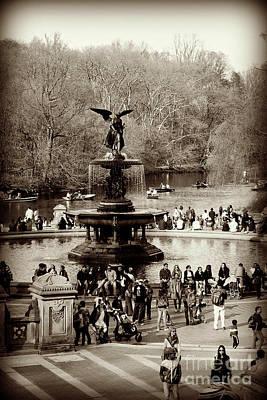 Photograph - Bethesda Fountain - Central Park by Miriam Danar