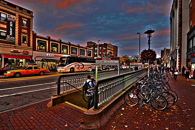 Central Square Cambridge Ma Art Print by Toby McGuire