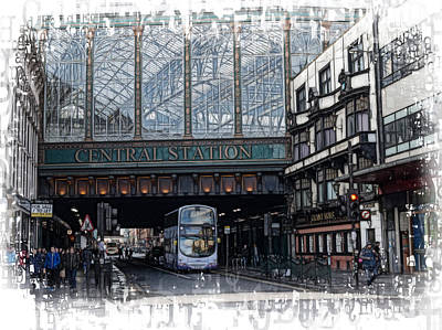 Photograph - Central Station Glasgow by Fiona Messenger