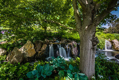 Photograph - Central Waterfall by Randy Scherkenbach