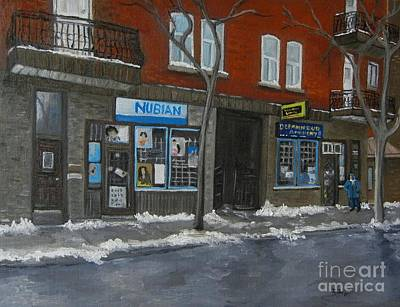 Montreal Buildings Painting - Centre Street Pointe St Charles by Reb Frost