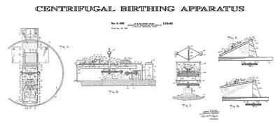Giving Digital Art - Centrifugal Birthing Apparatus 4 Patent Art by Daniel Hagerman