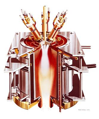 Centrifugal Plasma Furnace Print by Science Photo Library