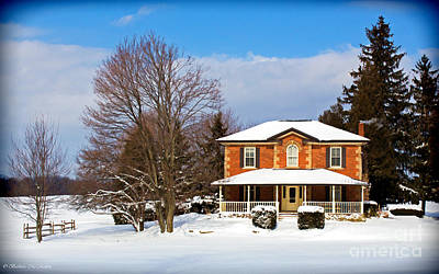 Photograph - Century Brick Home In Winter by Barbara McMahon
