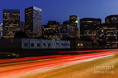 Beverly Hills Photograph - Century City Skyline At Night by Paul Velgos