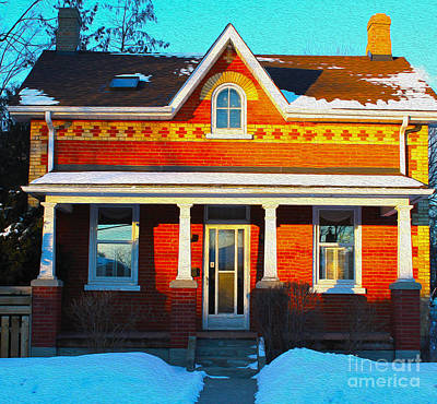 Photograph - Century Home In Winter 6 by Nina Silver