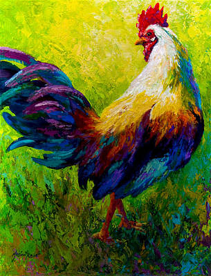 Roosters Painting - Ceo Of The Ranch by Marion Rose