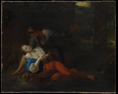 Cephalus And Procris Art Print by Godfried Schalcken
