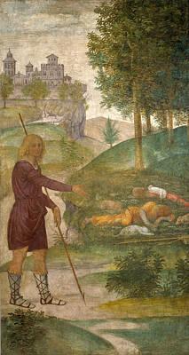 Cephalus And The Nymphs Art Print by Bernardino Luini