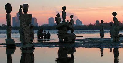 Photograph - Ceprano Rock Arts. Ottawa River by Rob Huntley