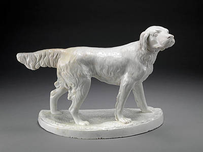 Ceramic Drawing - Ceramic, A Setter Standing by Litz Collection