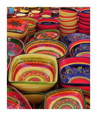Ceramic Bowls Art Print by Anthony Dalton