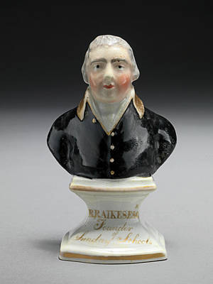Ceramic Drawing - Ceramic Bust Of R. Raikes by Litz Collection