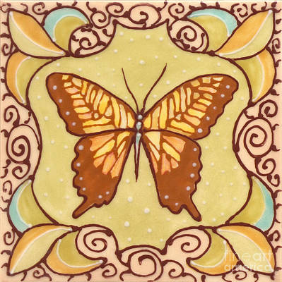 Ceramic Butterfly Art Print