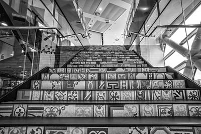 Photograph - Ceramic Decorated Staircase  by Judith Barath