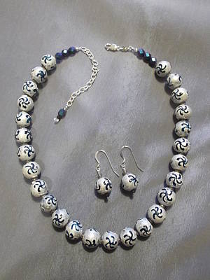 Jan Sterling Jewelry - Ceramic Necklace by Jan Durand