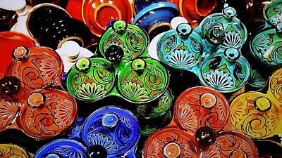 Ceramic Potery Pots Art Print by Rob Hans