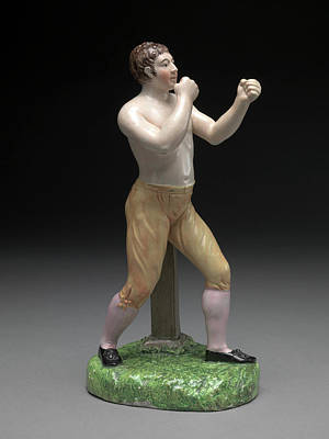 Ceramic, The Boxer Tom Cribb In Canary Breeches Art Print