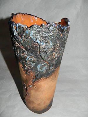 Ceramic Vase - Castle Garden Print by Keramik Sonnenscheindesign