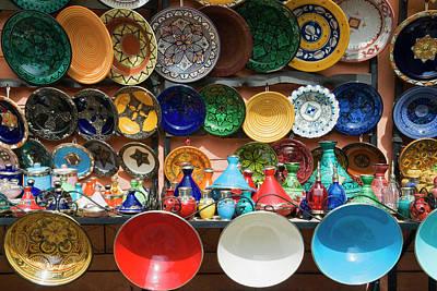 Ceramics For Sale, Souk, Medina Art Print by Nico Tondini