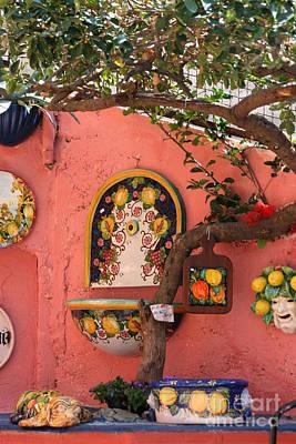 Ceramics Photograph - Ceramics, Italy by Holly C. Freeman