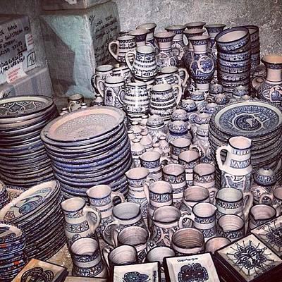Ceramics Photograph - #ceramics #morocco #travel by Amber Villanueva