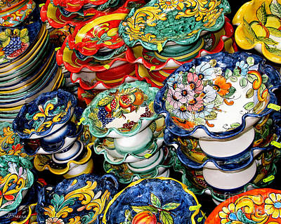 Italian Pottery Photograph - Ceramics Of Vietri Sul Mare  by Jennie Breeze