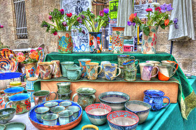 Photograph - Ceramics Stall by Uri Baruch