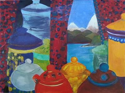 Ceramics View 1 Art Print by Karen Coggeshall