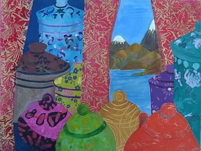 Ceramics View 2 Art Print by Karen Coggeshall