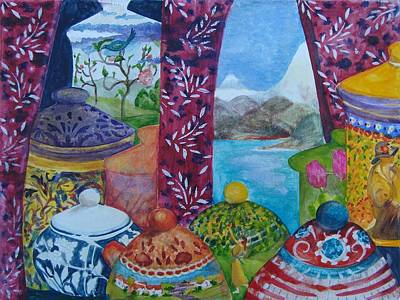 Ceramics View 3 Art Print by Karen Coggeshall