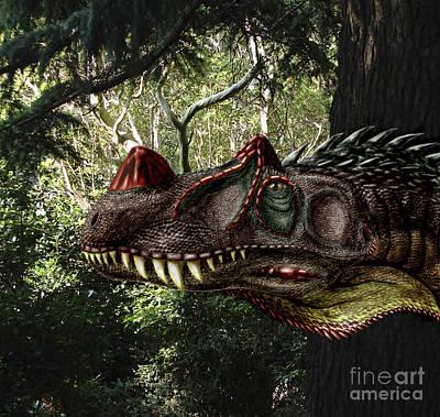 Headshot Digital Art - Ceratosaurus Magnicornis Of The Late by Yuriy Priymak