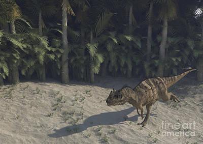 Running Digital Art - Ceratosaurus Running Across Prehistoric by Kostyantyn Ivanyshen